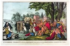 6905.William Penn's treaty with natives.province founded.POSTER.art wall decor