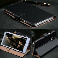 Genuine Leather Wallet ID Card Holder Flip Stand Case Cover For Samsung iPhone