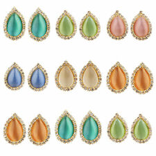 Lovely Fashion Drop Rhinestone Crystal Gold Plated Women Party Earrings Stud