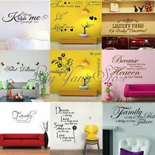 Removable Room Home Decor English Words Wall DIY Stickers Decal Vinyl Art Mural
