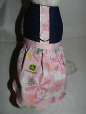 DOG CAT FERRET Couture Harness Denim Dress~John DEERE Pink Tractor Country Theme