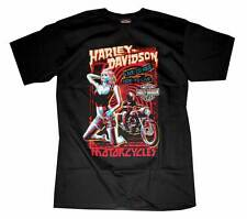 Harley-Davidson Men's Horror Poster Short Sleeve T-Shirt Black 30293175
