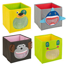 Kids Toy Storage Box Non Woven Fabric Collapsible Container Organiser Solution