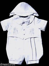 Boy  Infant Toddler Christening Baptism Outfit Set, Satin ,Sz:   Medium, Large