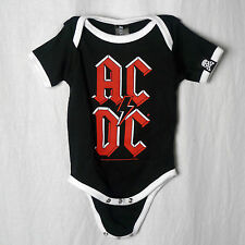 Licensed AC/DC Embossed Logo Baby Infant Creeper One Piece 3-18 Month Rock New