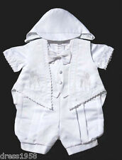 Boy Infant Toddler Christening Baptism Outfit  Cross, Grapes,Sz: Medium, Large