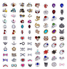 10pc 3D Nail Art Alloy Decoration Bling Rhinestone Charm Glitter Tips DIY #D