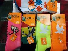 NEW - Lot/2 FLOW SOCIETY Lacrosse Socks MEDIUM - YOU PICK THE STYLE Neon,Rasta