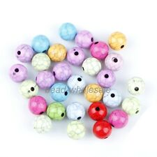 Jewelry DIY Stylish Multi-color Round Cracks Turquoise Loose Spacer Beads 20 pcs