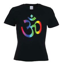 OM SYMBOL WOMEN'S T-SHIRT - Hindu Yoga Meditation Aum Hinduism -Choice Of Colour