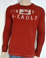 American Eagle Outfitters AEO 37 NY Mens Red Vintage Fit Long Sleeve T-Shirt NWT