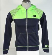 New Balance Zip Front Hooded Jacket Blue & Bright Green Youth Boys Hoodie NWT