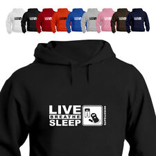 Paranormal Ghost Hunter Emf Gift Hoodie Hood Eat Live Breathe Sleep Investigate