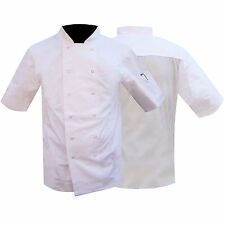 Chef Jacket / Uniform Clothing Mesh Back WHITE QUALITY LOW PRICES