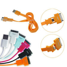 Cheap 2in1 Micro USB Data Charger Cable For iphone4 4S Samsung i9500 i9300