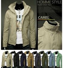 NEW TOP Fashion Men's Slim Designed Trench Coat Jacket Casual Warm Fit Outwear