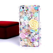 Pretty 3D Resin flower Rhinestone phone Case Cover For iphone 5c Back cover