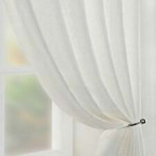MISTED White or Cream Voile Net Sheer Curtain Panel inc EXTRA WIDE EXTRA LONG