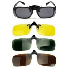 Polarized Day Night Vision Clip-on Flip-up Lens Sunglasses Driving Glasses WLSG