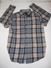 St. Johns Bay Button-Up-Front Flannel Shirt (CHOOSE sz) Mens Plaid (#9) NEW NWT