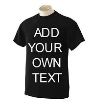 Create Your Own Personalized Custom Funny T-Shirt Screen Printing Size S to 6XL