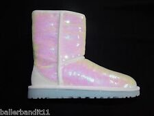 Womens Ugg W Classic Short Sparkles I Do boots new 1003511 White