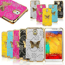 Bling Leather Butterfly Case Cover For Samsung Galaxy Note 3 III N9000 Fashion
