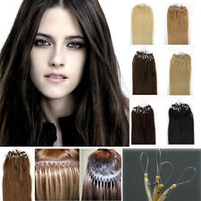 Women Beauty Gift 18/20/22 Remy Human Hair Extensions Loops Micro Rings Bead