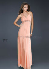 NEW Sz Wrapped V Neck Empire Waist Beaded Evening Holiday Maxi Day Pink Dress