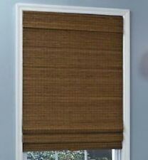 NEW with DEFECTS Natural Woven Bamboo Cordless Roman Shade/Blind Window Treatmen