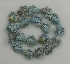 "Raku Ceramic Beads, 1/2"" Octopus Design, New"