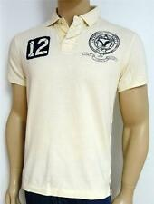 American Eagle Outfitters AEO 12 Double Logo Mens Ivory Polo Shirt New NWT