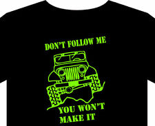 T Shirt S-5XL 4x4 Off road Four wheel drive jeep land rover tyre book country