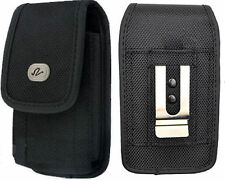 Vertical Rugged Canvas Belt Clip Case Pouch for Alcatel Cell Phones ALL CARRIERS