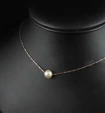 Fashion Silver/Gold /Chain/Necklace With 12mm Big Pearl Pendant Wedding Gift