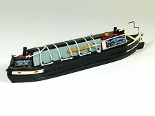 Mini, model narrow work boat, cargo, canal boat, nautical, 21cm, barge, OO size