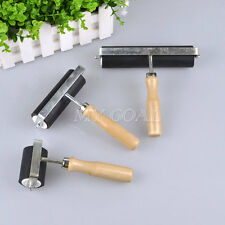 Heavy Duty Rubber Roller Brayer Stamping Printing Screening Wood Handle Ink Tool