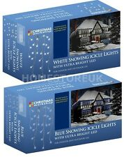 LED BULB SNOWING ICICLE CHRISTMAS DECORATION 8 MODE XMAS PARTY LIGHT IN/ OUTDOOR