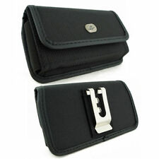 Horizontal Rugged Canvas  Clip Case Pouch FOR Samsung Cell Phones