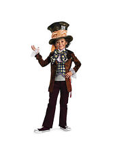 Deluxe Burton Alice in Wonderland Boy's Mad Hatter Disney Costume