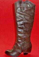 NEW Women's FERGIE LEDGE Brown Zipper Heels Fashion Casual Evening Dress Boots