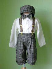 Toddler Boy Knickers Vintage Outfit Set, Ivory/Brown  Size: 12 Month to 4T