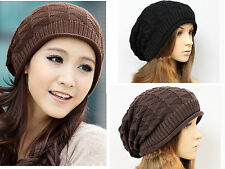 NEW Unisex Knit Baggy Beanie Winter Ski Unisex Beret Slouchy Chic Hat Cap Skull