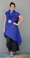 BRYN  WALKER  Light  Linen  NOA TUNIC  Long  Angle Hem  Dress  S M L XL  ORBIT