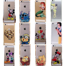 Cute New Transparent Cartoon protector phone case cover for iphone 4 4S 5 5S 5C