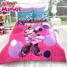New Disney Minnie Mouse Love Pink Red Comforter Bedding Sheet Set