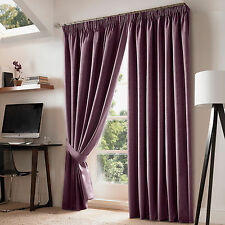 Ashley Wilde Nevin Grape Blackout Pencil Pleat Ready Made Blackout Curtains
