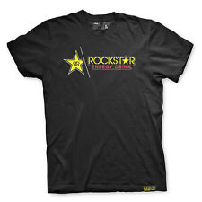 Factory Effex Rockstar Energy Split Black T-Shirt Tee Adult Mens Licensed NEW
