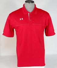Under Armour Loose Fit Moisture Wicking Red Short Sleeve Polo Shirt Mens NWT