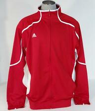 Adidas Signature Red & White Basketball Zip Front Track Jacket Mens NWT